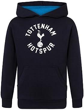 Tottenham Hotspur FC - Sudadera oficial con capucha y escudo del club - Para niño - Forro polar