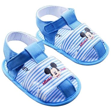 Baby Bucket Pre-Walker Sandal Shoes Light Weight Soft Sole Booties Sandal (Blue, 0-5 Months)