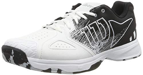 Wilson Kaos Devo, Scarpe da Tennis Uomo, Bianco/Nero/Blu Chiaro, 42.5 EU
