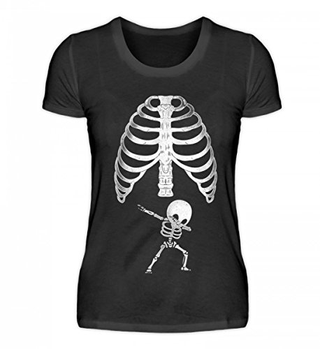 irt - Schwangerschaft Lustiges Dabbing Baby Skelett Xray Röntgen Shirt für Schwangere Frauen (Schwangere Halloween-skelett Shirt)