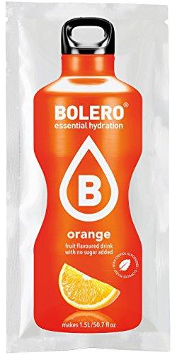 Bolero Drink - Orange mit Stevia (12er Pack) - Aromatisiertes Wasser-pulver