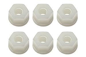Team Associated locknuts, 8-32, White