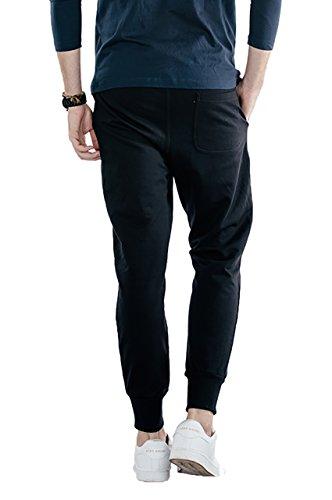 Bewakoof Men's Fleece Jogger Track Pant(62304S_Jet Black_Small)