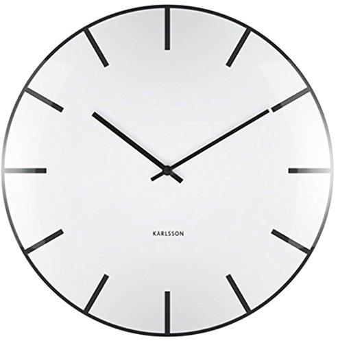 Karlsson Dome Uhr, Wanduhr, Glas, Weiß, One Size