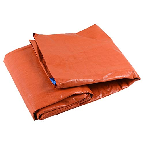 Bâche de Protection Poncho Imperméable Poinçon Ombre Crème Solaire Chiffon PE Wagon De Voiture Bleu + Orange 160g / M2 (Size : 5x5M)
