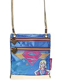 Karactermania Dc Super Hero Girls Supergil Bolso Bandolera, 17 cm, Azul