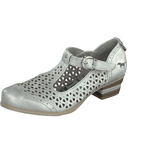 Mustang 1187-205 Chaussures En Silber À Talons Hauts Pour Femmes
