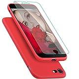 Coque pour iPhone 7 / 8 ProBien,Silicone Ultra Fine Housse avec Verre Trempé Gratuit...