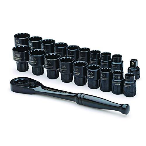Jeu de clés à molette 4-en-1 Crescent CX6DBM2 8-19 mm - Lot de 2 pièces, noir, CX6PT20