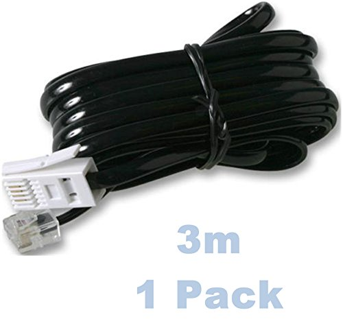 tda-3m-fax-telephone-phone-modem-cable-lead-rj11-to-bt-plug-phone-socket-black-pack-of-1
