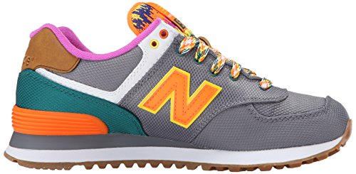 New Balance Damen Wl574v1 Sneakers Mehrfarbig (Grey/Green)