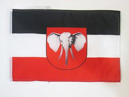 FLAGGE DEUTSCH-OSTAFRIKA 1885-1919 45x30cm mit kordel - DEUTSCHE KOLONIE FAHNE 30 x 45 cm - flaggen AZ FLAG Top Qualität