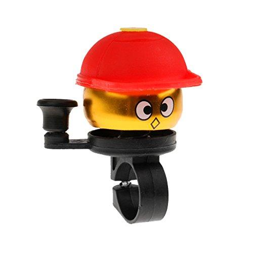 adklingel, auf Fahrradlenker montieren, Aluminiumlegierung - ein Junge einen Hut trägt, sehr beliebt von Jungen und Mädchen - Rot, 7,3 cm ()