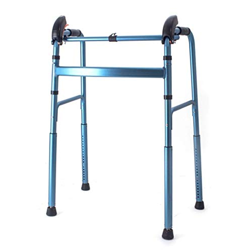 Gehhilfen , Leichtgewichtige Gehhilfen ohne Räder Rollator Faltbar Tragbar Für ältere Patienten Aluminiumlegierung Höhe 15 Einstellbar 4 Fuß Rutschfester Gehstock