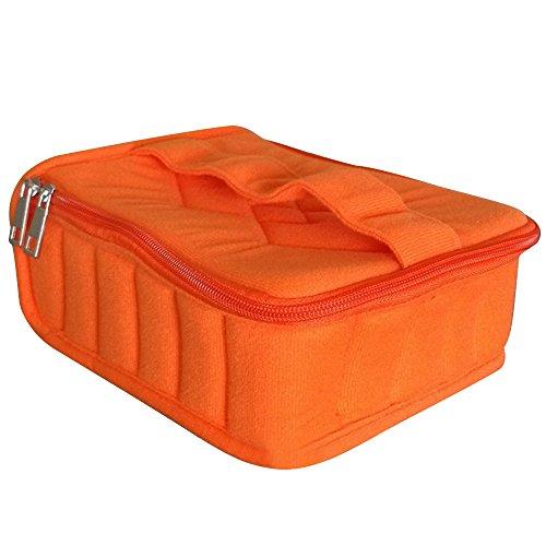 Sac de Rangement pour 5ml 10ml 15ml Bouteille d'Huile Essentielle Storage,30 Compartiments,Orange