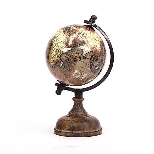 Casa Décor Enamel Finish Wooden Base World Globe