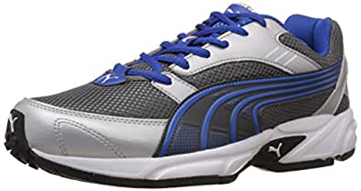 Puma Men's Pluto DP Silver and Blue Running Shoes - 6 UK/India (39 EU)