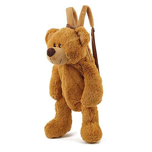 Kindergarten Schultaschen Kinder Plus Bär dunkel braun Tasche Jungen und Mädchen Puppe Baby Rucksack 1-3 Jahre 5 - Alt Puppen Fünf Jahr Für