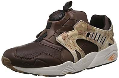 Puma Trinomic Disc Camo Blaze Sneaker Men Trainers 357366 01 brown leather, pointure:eur 41
