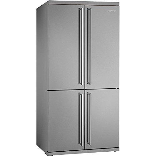 Smeg Glas-kühlschrank (SMOKER FQ360XI integriert/Stand-alone 540l A+ Edelstahl Kühlschrank Tür Seite - Kühlschrank side-by-Sside (integriert/unabhängig, Edelstahl, amerikanische Tür, LED, Glas))