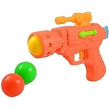 TOOGOO(R) Pistola de Juguete Plastico Color Naranja con 3 Bolas