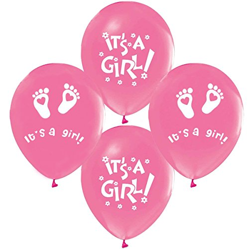 25 x Its a Girl Luftballons Babyshower Party , Babyballons , Babyparty , Pullerparty , Bebek