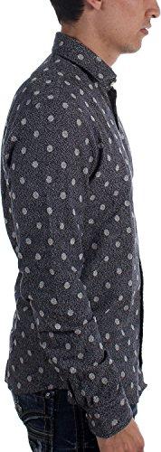 Scotch & Soda Wool Optik Hemd Dunkelblau Grey