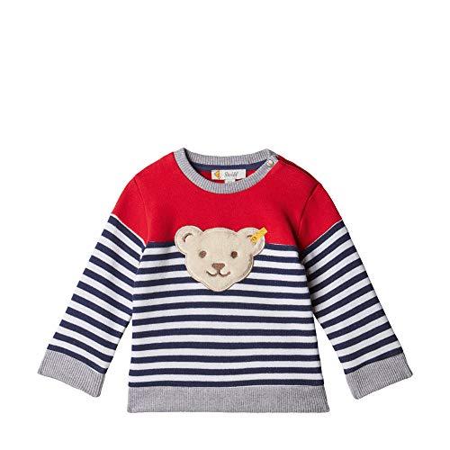 Steiff Baby - Jungen Sweatshirt , Weiß (BRIGHT WHITE 1000) , 68 (Herstellergröße:68)