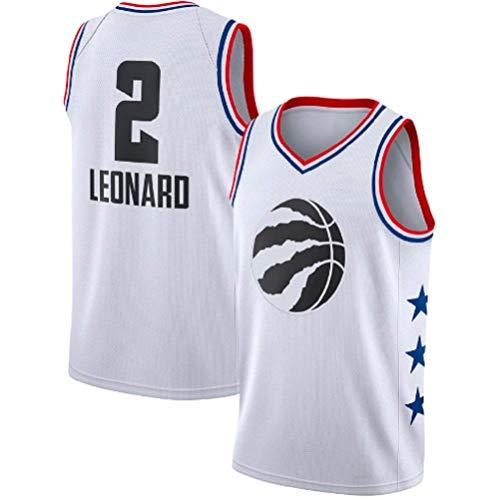 Herren Trikot - NBA Toronto Raptors # 2 Kawhi Leonard Basketball Trikot, Retro Sommer Coole Atmungsaktive Sportswear Unisex Ärmelloses T-Shirt,White,XXL:190cm/95~110kg