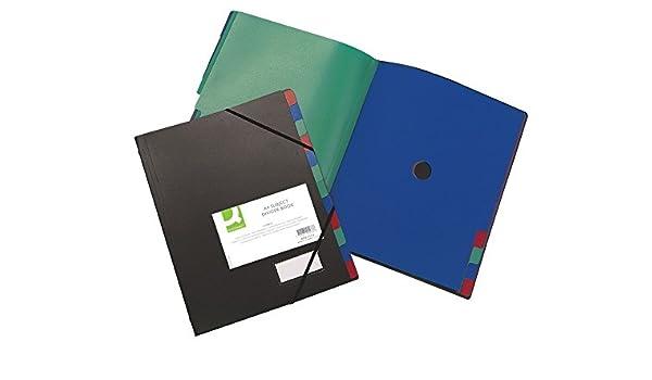 Mappen Ordnungsmappe 12-teilig schwarz Q-Connect KF01273 Div
