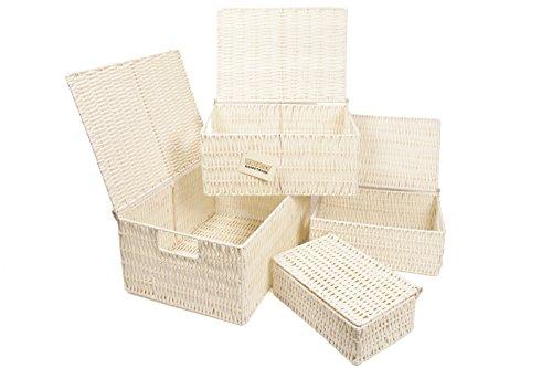 Wicker Storage Baskets With Lids Amazoncouk