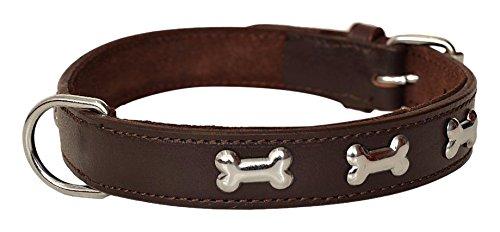 avon-pet-products-knochen-nieten-hundehalsband-aus-leder-51-cm-braun