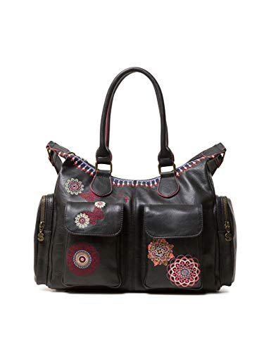 Desigual Damen Bag Chandy London Women Schultertasche, Schwarz (Negro), 15.5x25.5x32 cm