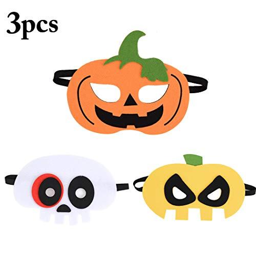 Fansport 3 STÜCKE Halloween Maske Kreative Kürbis Skeleton Party Maske Kostüm Maske für Kinder