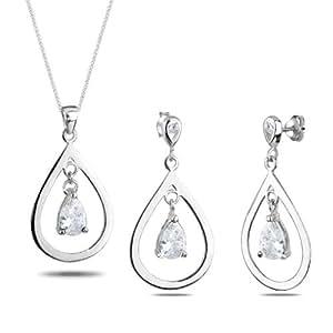 Elli Damen-Schmuckset Klassik Schmuckset 925 Sterling Silber Länge 45cm 0912981311_45
