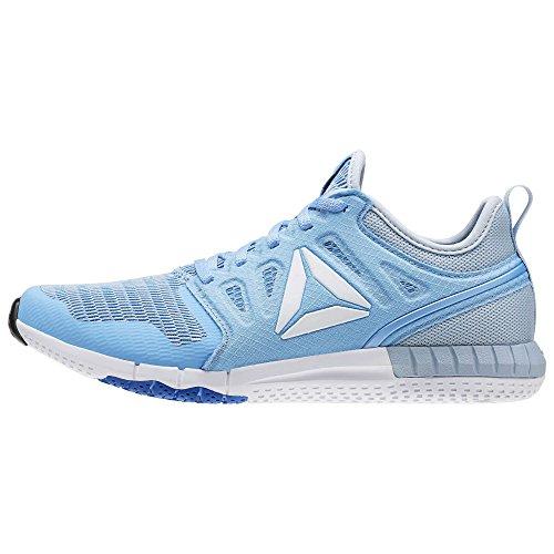Reebok Zprint 3d, Chaussures de Course Femme Bleu (Sky Blue/awesome Blue/gable Gry/slvr Met)