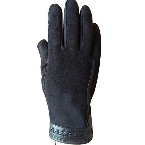 PZXY 852 Winterhandschuhe Herbst und Winter Herren Fell warm Touch-Screens Vlies voll Finger-Handschuhe -