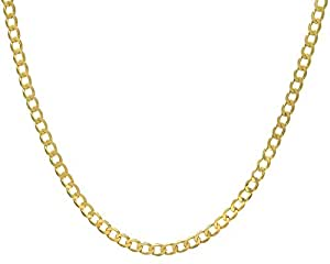 Citerna 9 ct Yellow Gold 18.1 g Curb Necklace of 46 cm/18 Inch Length and 6.2 mm Width