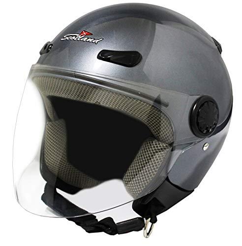 Scotland - 120013 Titop XL Casco moto visera, titanio