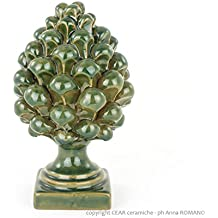 Pigne decorative in ceramica artistica di Caltagirone fatte a mano,1 pz.