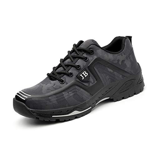 Scarpe Antinfortunistiche Uomo con Punta in Acciaio Scarpe da Lavoro Antinfortunistiche Sportive Sneaker Ultraleggeri Traspirante Nero Camo 36-45 GY41