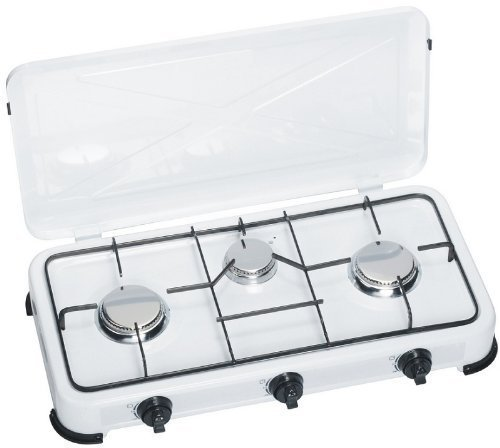 Gaskocher 3-flammig mit Edelstahlbrenner 50 mbar, ideal für die Campingküche oder Outdoorküche