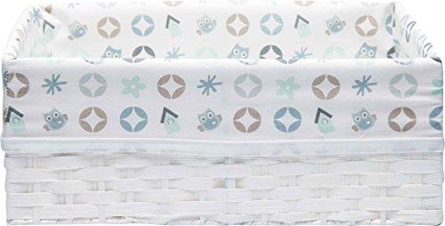 Bébé-Jou Owl Family - Canastilla de tela para productos de higiene del bebé,...
