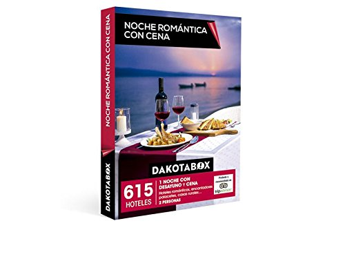 DAKOTABOX – Caja Regalo – NOCHE ROMÁNTICA CON CENA – 615 escapadas en hoteles románticos, mágicos palacetes, hospederías, posadas, casas rurales…