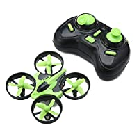 DyausDrone E010 RTF GREEN Quadcopter Drone – 2.4G 4 Channel Remote Controlled Mini-Drone - 360° Roll-Over – Compass Function – Night Lights – 30m Flying Distance