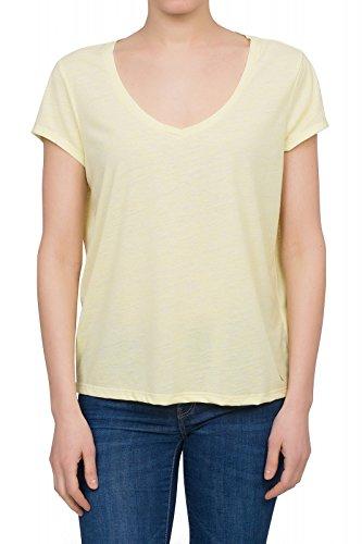 Lee Ultimate V-Neck Tee Shirt Damen T-Shirt Freizeit-Shirt Gelb L42APACB, Größenauswahl:XS (Tee Ultimate V-neck)