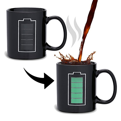 Incutex Color changing mug Tasse mit Thermoeffekt Farbwechseltasse – Batterie