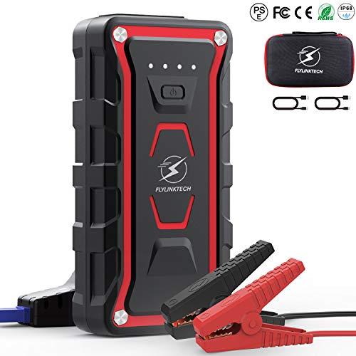 FLYLINKTECH Avviatore Emergenza per Auto- 1500A 20000mAh Avviatore Batteria Auto(Tutti i Veicoli a Benzina o 7.0L Diesel) 12V Jump Starter, IP68 Impermeabile, Torcia a LED con Doppie Porte USB