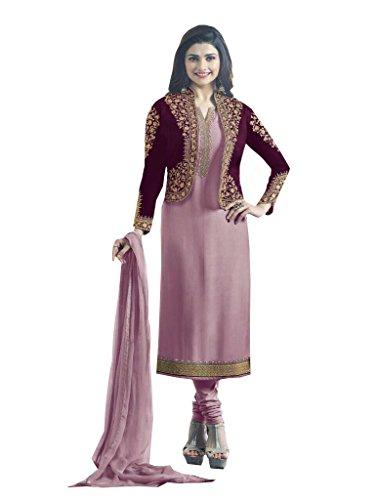 Special Mega Sale Festival Offer C&H Purple Georgette Embroidery Designer Salwar Suits
