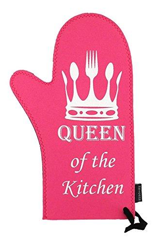 Invotis Ofenhandschuh Topfhandschuh Queen of the Kitchen pink